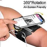 VUP Running Armband, 180° drehbar, Universal Handy Halterung, Kompatibel mit alle 4-6.5 Zoll Smartphones– Schwarz