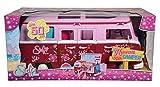 Simba 105739423 - Steffi Love Hawaii Camper / aufklappbares Auto / 51cm / mit Küche / Sitzecke / Bett und Tisch / Zubehör / Ankleidepuppe, für Kinder ab 3 Jahren