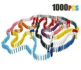 Lewo 1000 Stück Hölzern Domino Set Klassisch Rennen Spiele Gebäude Blöcke