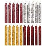 Dsaren 20 Stück Siegellack Sticks Vintage Sealing Wax Siegelwachs Set mit Dochte für Wachs Siegel Stempel Buchstaben Briefmarken