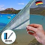 X-Solutions | Spiegelfolie Selbstklebend | Selbsthaftend, Silber reflektierende Fensterfolie | UV-Schutz Sonnenschutzfolie Fenster innen | Selbstklebende Sichtschutz, Sonnenschutz Folie | 60 x 200 cm