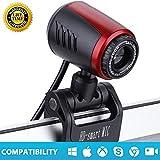 HD Webcam, 1080P HD USB PC Webcam Web Cam Camera,Horizontal 360 ° Drehen USB 2.0 Webkamera Mit Digital Mikrofon Für PC Laptops Desktop Videotelefonie,Webcam