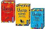 Kosmos Ubongo - 3 Wilde Legespiele für unterwegs: Ubongo Klassiker + Ubongo Extrem + Ubongo Trigo. Jeweils für 1 bis 4 Spieler ab 7 Jahren