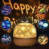 LED Sternenhimmel Lampe Kinder, SANBLOGAN Sterne LampeKinder LED Nachtlicht mit 6 Projektionsfilmen 360° Rotierend Sternenlicht Lampe Kinder für Halloween Weihnachts Kinderzimmer Dekoration