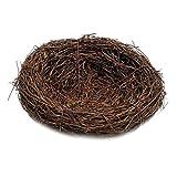 Baoblaze Rattan Vogelnest Geflechte Vine Nest Nesteinleger Feiertags Deko - Braun, 8cm