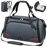 NUBILY Sporttasche für Männer Frauen mit Schuhfach Wasserdicht Reisetasche Weekender Herren Trainingstasche Fitnesstasche Sport Gym Tasche 65 Liter (Blau 65L)