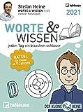 Stefan Heine Worte & Wissen 2021 - Tagesabreißkalender - 11,8x15,9 -Rätselkalender - Tischkalender