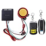 WINOMO Motorrad Alarm System Anti Diebstahl Sicherheitssystem mit doppelter Fernbedienung 12v Universal