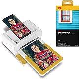 KODAK PD460 Dock Plus & Bluetooth tragbarer Mini Fotodrucker 10x15, mobiler Drucker für Smartphone (iPhone und Android), Sofortbilder in Premium-Qualität unterwegs mit dem Handy drucken + 80 Fotos