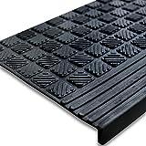 etm® Stufenmatten Diamond | 5 er Sparpack | rutschhemmende Gummistufenmatten für den Außenbereich | 25x65cm