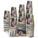 200 Pappbecher 240ml 8 Oz Coffee to Go - Kaffeebecher to Go Zum Servieren von Kaffee, Tee, heißen und kalten Getränken
