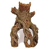 Rosewood 915710 Aquariumdeko Baumstamm mit Wurzeln im Mittelpunkt, Large