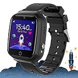 Smartwatch Kinder - Zwei-Wege-Anruf Smartwatch-Telefon mit Puzzlespiel Musikalarmkamera SOS Anti-Lost Touchscreen für Mädchen und Jungen Geschenk (Schwarz)
