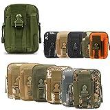 ZhaoCo Taktische Hüfttaschen, Nylon Militär Kompakt MOLLE EDC Handytasche Gürteltasche Beutel für Gadget-Dienstprogramm Camping Wandern Reise - Armeegrün