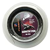 Lixada1 Badminton-Saite für Badmintonschläger, 0,72 mm, strapazierfähig, Ersatz-Badminton-Saite, schwarz