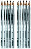Faber-Castell 111997-12 Jumbo GRIP Bleistifte, Härtegrad: B, Schaftfarbe: silber (10er, silber)