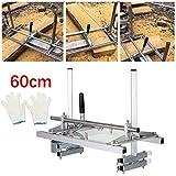 HUKOER Chainsaw Mill 24 Zoll Tragbare Kettensäge Mühle Aluminium Stahl Mig Schweißen Sägewerk 14'-24' Planking Lumber Cutting Bar