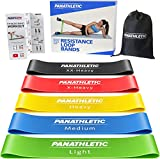 Panathletic Fitnessbänder, 5er Set – 5 Verschiedene Stärken, Übungsanleitung, eBook auf Deutsch, Tragebeutel – 5X Fitnessband, Theraband, Gymnastikband, Terrabänder, Widerstandsband, Fitness Band, 60 x 5 x 0.1 CM