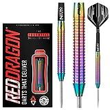 RED DRAGON Razor Edge Spectron Steel Dartpfeile 24 Gramm Profi Steeldarts Set, 3 x Steel Darts mit Flights und Schäfte
