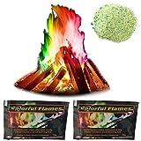 Farbwechsel für Lagerfeuer-Kamin - 2 Packungen Feuerfarben Pulver Bunte Flamme für Lagerfeuer-Kamin (15 g + 25 g)
