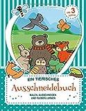 Ein Tierisches Ausschneidebuch: Malbuch, Bastelbuch und Ausschneide Buch für Kinder - die ersten Erfahrungen mit Malen, Ausschneiden und Kleben