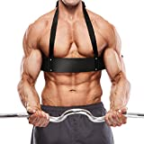 Cocoarm Bizeps Blaster Biceps Isolator Fitness Weightlifting Arm Blaster Bizepstrainer Trizeps Bomber für Bodybuilding Kraftsport Gewichtheben Verstellbar Schwarz