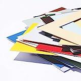 Passepartout Premium Museumsqualität - 34 Farben in Allen Größen - Reinweiß (Farbe) - (Außen: 40x50 / für Bildgröße: DIN A3)