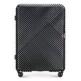 WITTCHEN Koffer – Großer | hartschalen, Material: polycarbonat | hochwertiger und Stabiler | Schwarz | 53x29x77 cm