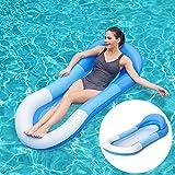 Queta Luftmatratze Wasserhängematte Aufblasbare Liege Wasser Bett Floating Aqua Lounge Schwimmbad Wasser Pool Matratze, 160×84 cm