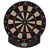 HOMCOM Elektronische Dartscheibe Dartboard Dart-Set mit 6 Darts 30 Dartköpfe 26 Spiele und 185 Trefferoptionen für 8 Spieler Mehrfarbig 39,5 x 2,2 x 44 cm