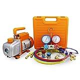 BACOENG 3CFM Vakuumpumpe Manifold Gauge Klimaanlage Set