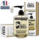 BARBER TOOLS  Rasiergel transparent 150 ml - für eine präzise Rasur der Bartkonturen (Sichtbarkeit, Gleitfähigkeit und maximaler Schutz) - hergestellt in Frankreich
