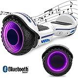 "GeekMe Elektro Scooter Self-Balance Scooter 6.5"" - Bluetooth Lautsprecher - 700W Dual Motor - blinkendes LED-Lichtrad"