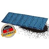 Aminata BALANCE – Wärmekissen Nacken, Schulter, Rücken - Körner-Kissen Rapssamen-Kissen 60x20 cm Sterne blau weiß 8-Kammer - abnehmbarer Bezug - Geschenk-Idee - Stern-Motiv hergestellt in Deutschland