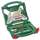 Bosch 50tlg. X-Line Titanium-Bohrer und Schrauber Set (Holz, Stein und Metall, Zubehör Bohrmaschine)