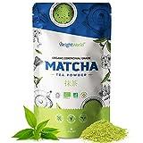 Einführungspreis 2020 BIO Matcha Pulver - Original Green Tea aus Japan - Ceremonial Grade - 100g Grüntee für Smoothies & Matcha Latte - Superfood Matcha zum Kochen - BIO Matcha Tee Pulver