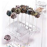 Westmark Cake Pop-Butler, Ständer für bis zu 20 Cake Pops, 22 x 16 x 6 cm, Kunststoff, Transparent, 30252260