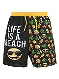 Emoji Jungen Sonne und Palmen Badeshorts Schwarz 152