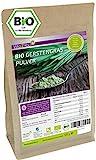 Gerstengras Pulver Bio 500g - Rohkost Qualität - Gerstengraspulver aus Bayern - Laborgeprüft - Premium Qualität