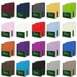NatureMark 2er Pack MICROFASER Spannbettlaken, Spannbetttuch Doppelpack in vielen Größen und Farben MARKENQUALITÄT ÖKOTEX Standard 100 | 90 x 200 cm - 100 x 200 cm - anthrazit grau