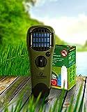 ThermaCell Sorglos Paket 60 Stunden Mückenschutz im Set Handgerät olivgrün mit Kippschalter MR-GJ und Nachfüllpack R-4