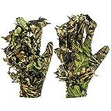 GUGULUZA 3D Camo Handschuhe, Outdoor Tarnung Jagdhandschuhe Blättertarnanzug Woodland Camouflage Handschuhe