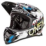 O'NEAL Backflip RL2 Villain DH Fahrrad Helm schwarz/weiß 2020 Oneal: Größe: L (59-60cm)
