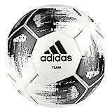adidas Team Glider Fußball, White/Black/Silver Metallic, 5 (M)
