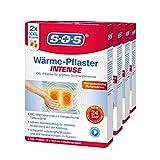SOS Wärme-Pflaster INTENSE, extra starke Wärme-Pflaster zur Linderung von akutem Schmerz im unteren Rückenbereich, entspannt verkrampfte Muskeln und löst Verspannungen im Rücken, 4 x 2 Pflaster