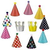 EQLEF Partyhüte Geburtstag Hüte Kronen Set für Geburtstag Festival Party Geburtstag Party Feier Dekoration- 11 PCS
