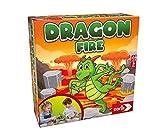 Noris 606064479 - Dragon Fire, das Geschicklichkeitsspiel mit Einsturzpotenzial, Für 2-4 Spieler ab 4 Jahren