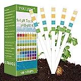 Bodentester,pH Bodentest,Boden PH Teststreifen,Bodenmessgerät für Pflanzen,Boden pH Tester,0-14 PH Pflanze Tester für Pflanzenerde, Gartenbau, Bauernhof, Rasenpflege(100 Streifen)