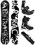 Airtracks Snowboard Set - Wide Board REFRACTIONS Game 155 - Softbindung Master - Softboots Strong 43 - SB Bag