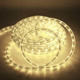 Kefflum LED Lichtschlauch,led schlauch, Lichterkette Licht Leiste 36LEDs/M Schlauch für Innen und Außen IP65 12M Warmweiß
